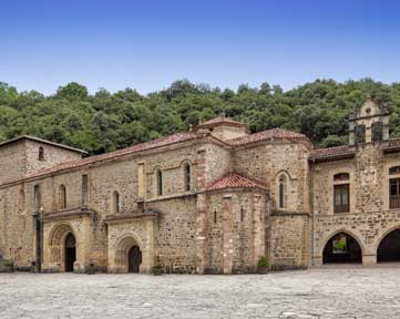 Monastery of Santo Toribio de Liébana, in Cantabria, Spain. It is a Roman Catholic monastery, founded prior to the 6th century. According to tradition, it venerates that largest piece of the Lignum Crucis (True Cross).